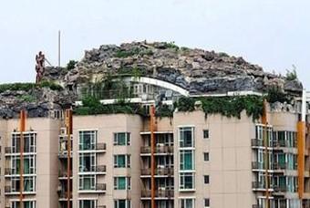 건물주가 지은 옥상 위 공중 별장