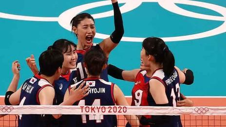 여자 배구, 일본 꺾고 8강 진출 확정