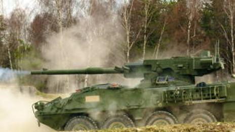 북한도 배꼈다! 미래지향적 장갑차 미군의 M1128 스트라이커 기동포 체계