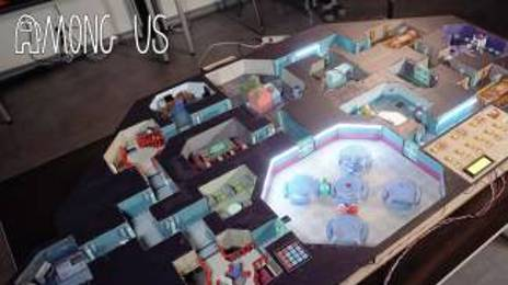 고등학생이 만든 실사판 어몽어스 맵 High Schoolers made AMONG US giant Board Game (All Tasks Working!)