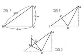 수학퍼즐: 삼각형의 면적의 비율은?