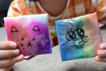 초등 미술놀이, 초간단 물말랑이 만들기