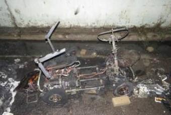 전동 휠체어에 불 붙인 남성, 방화 이유 살펴보니