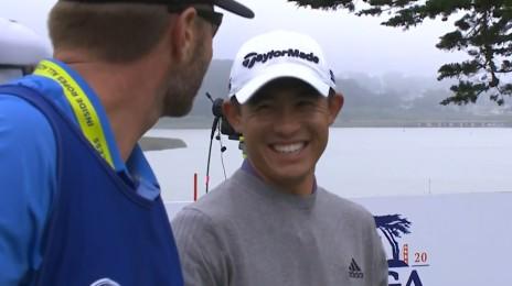 '승부에 쐐기를 박는 이글' 파4 원온 후 이글퍼트 성공하는 콜린 모리카와 [PGA 챔피언십 FR]