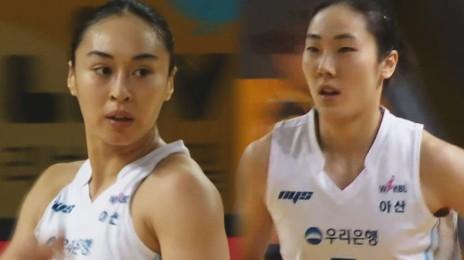 '침묵 탈피' 연속 득점으로 동점 만드는 박혜진-김소니아