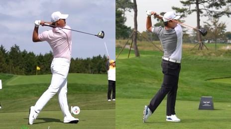 남자 골프 국가대표 김시우·임성재 스윙 모음