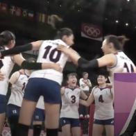 [배구] 도미니카 상대로 승리를 거두는 대한민국!